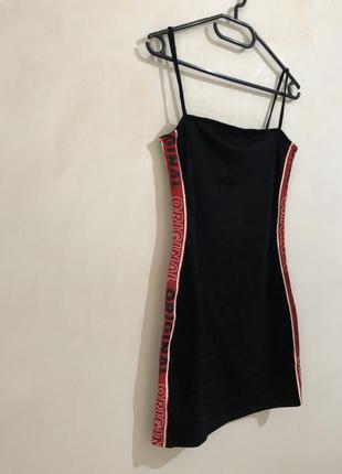Платье мини по фигуре с лампасами h&m