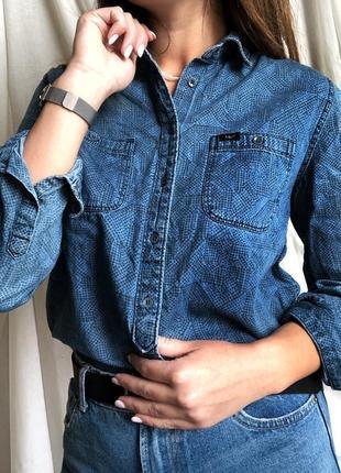Женская рубашка под джинс lee