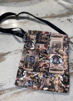 Лаковая  сумка в стиле vintage style