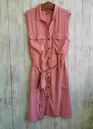 Платье халат рубашка на пуговицах