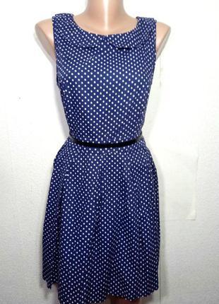 Платье  миди  коттоновое пышная юбка р 14-16 f-f