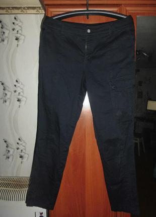 Штаны,джинсы карго  laura scott 50 р.темно-синий цвет в идеале