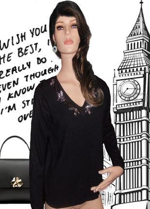 Sale / скидки / black friday / -50% / черный свитер с пайетками / специальное предложение!