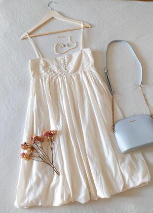 Шёлковое платье сарафан миди zara