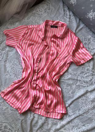Рубашка виктория сикрет шелковая