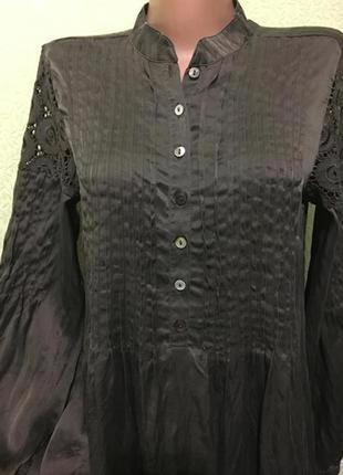 Шикарная шелковая блуза туника☘️100% шёлк