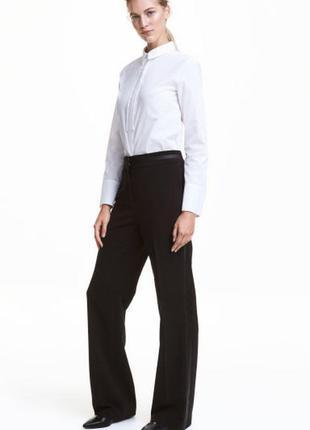 Широкие костюмные брюки h&m