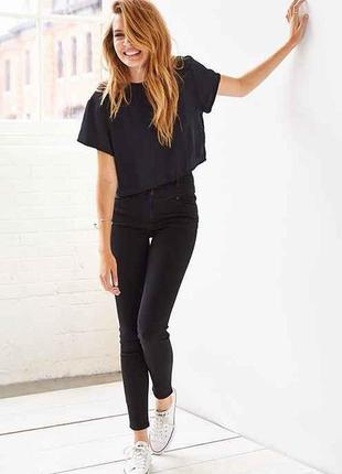 Идеальные черные джинсы скинны