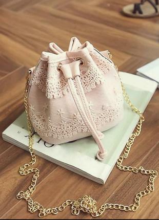Модная кружевная сумка, клатч, нежная сумочка