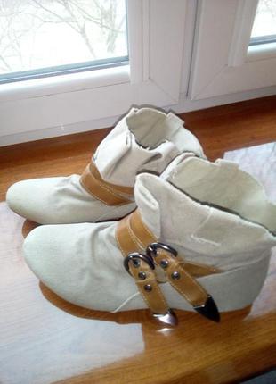 Оригинальные ботиночки из мешковины