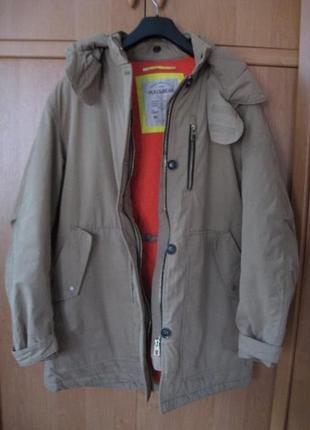 Курточка теплая длинная