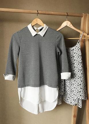 Свитер с имитацией рубашки от dorothy perkins