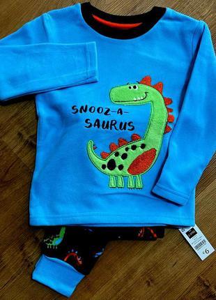 Яркая, мягусенькая флисовая пижамка от dunnes stores на 2-3 года из англии