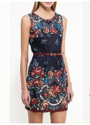 Платье с розами. платье синие с цветами. нарядное платье