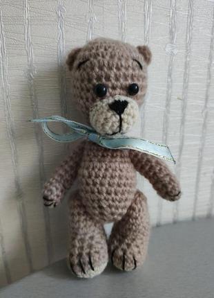 Медвежонок вязаный, вязаные игрушки