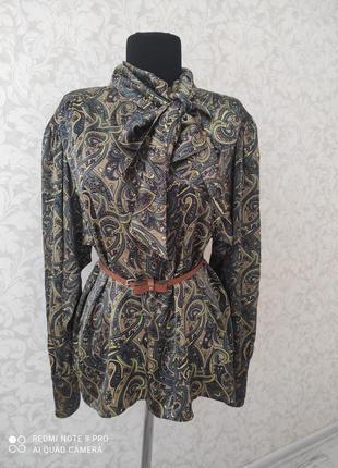 Escada винтажная шелковая блуза