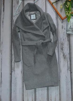 Стильное шерстяное пальто mango р xs
