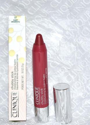 Clinique помада-бальзам chubby stick moisturizing lip colour balm №07.полноразмерный.