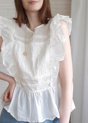 Трендовый топ, блуза из хлопка