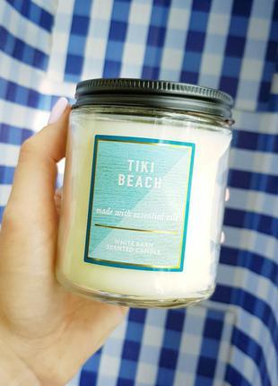Tiki beach свеча bath and body works оригинал