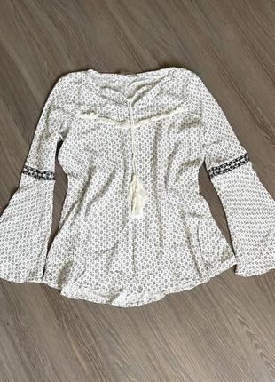 Легкая блуза кофточка в этно стиле бохо
