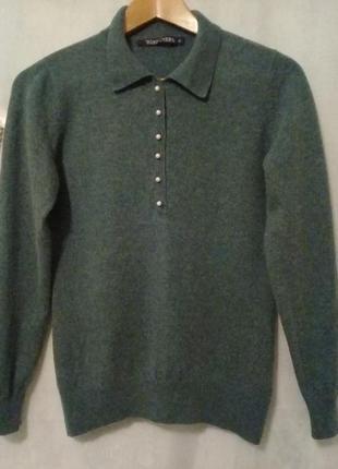 Кофточка свитерок на пуговках в составе мерино кашемир р. m от woolmark