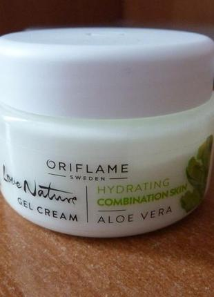 Крем-гель для лица алоэ вера love nature aloe vera gel cream от oriflame