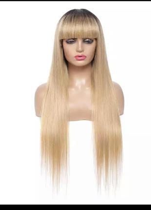 Парик / перука натуральне волосся  омбре блонд