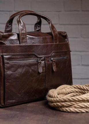 Чоловіча шкіряна сумка , портфель ( натуральна шкіра)