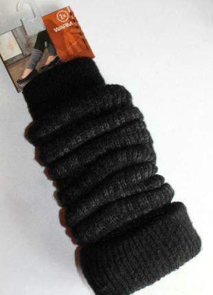 Теплые осенне- зимние гетры, чёрно-серые, модный аксессуар, германия.