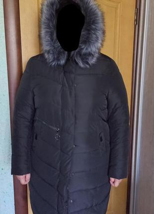 Зимняя куртка, зимняя куртка большого размера, очень теплая удлиненная зимняя куртка!