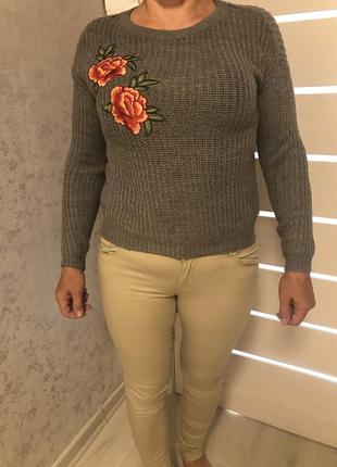 Джинсы , свитер