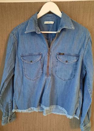 Вінтажна джинсова сорочка блуза lee оригінал с