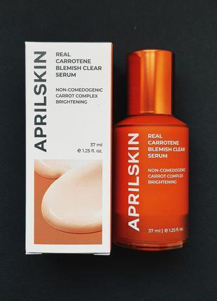 Сыворотка для проблемной кожи с акне aprilskin real carrotene blemish clear serum (37 мл)