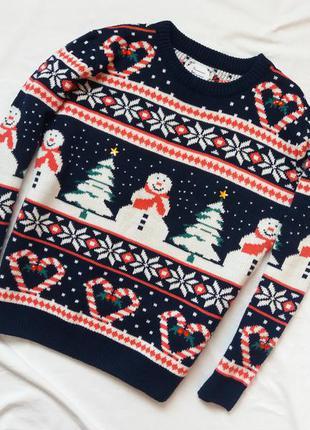 Новогодняя кофта свитер новогодний свитер двойной вязки