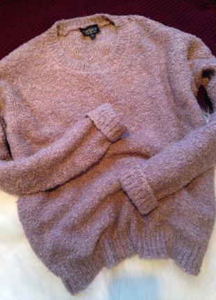 Трендовый объёмный оверсайз свитер topshop размер s-m