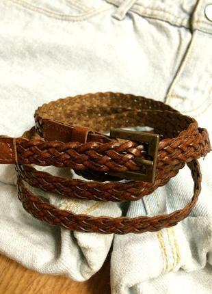 Кожаный коричневый ремень leather fashion,ремешок,пояс,поясок+подарок