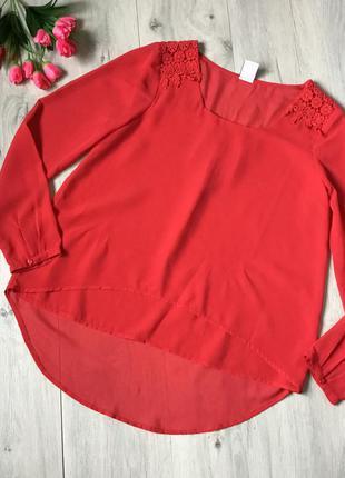 Фирменная шифоновая блузка vero moda, размер м