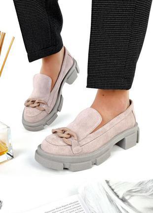 💥 шикарные замшевые туфли лоферы