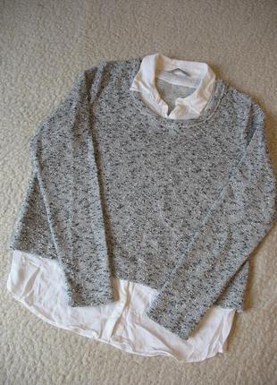 Меланжевый джемпер -блуза m&s