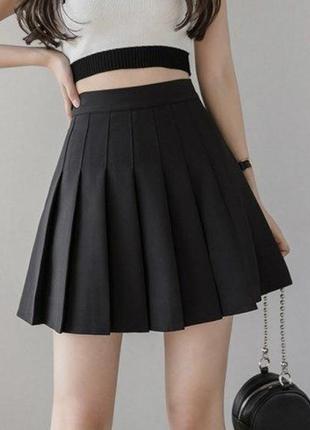 Теннисная юбка чёрная
