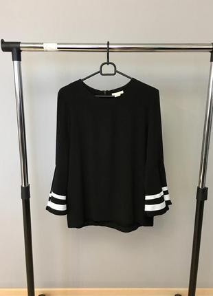 Шикарная нарядая блузка с воланами h&m