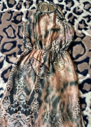 Красивейшее легкое нарядное платье в греческом стиле макси 44-46 р.