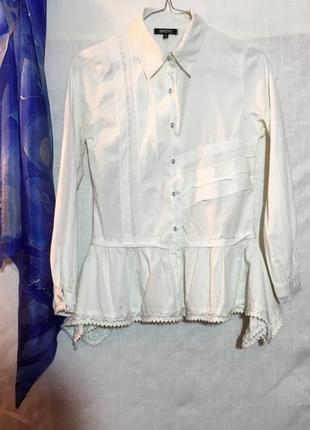 Блуза с вышивкой в этно стиле dkny