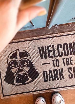 Коврик придверный welcome to the dark side