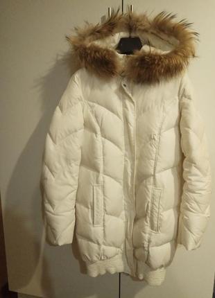 Пальто біле