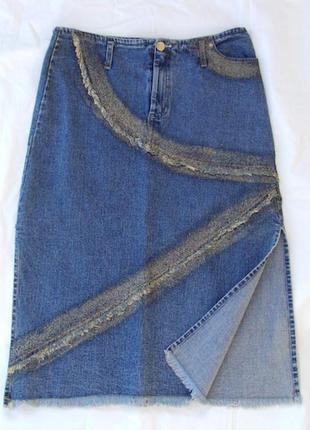 Юбка джинс motivi  размер 40,разрезы по бокам,