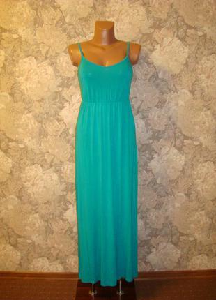 Платье\сарафан длинный\в пол\макси из вискозы р.6-8