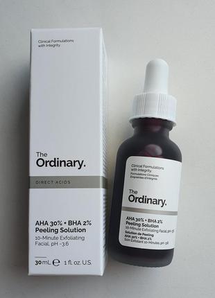 Кислотный пилинг the ordinary aha 30% + bha 2% peeling solution 30 ml