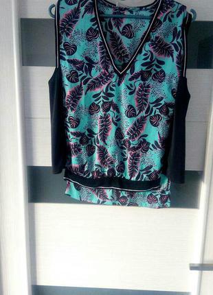 Zara блузка легкая с резинкой тренд 2017-18 года яркая модная оригинал